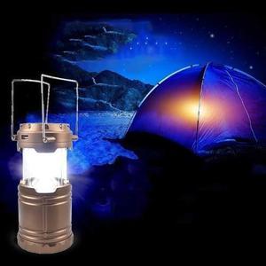 Lampara linterna solar, usb, power bank para camping casa..