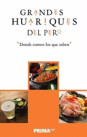 Libro turismo gourmet huariques del perú nuevo original