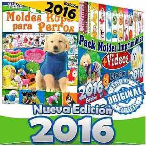 Mega kit 2016 moldes y patrones de ropa para perros + 2x1