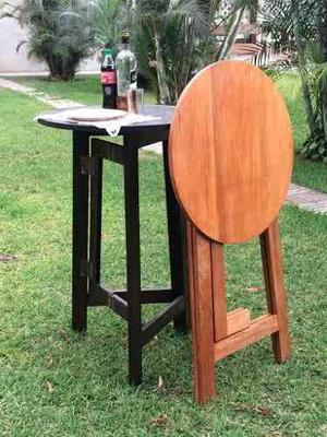 Mesa plegable madera alta anuncios julio clasf for Mesa jardin madera plegable