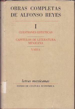 OBRAS COMPLETAS DE ALFONSO REYES TOMO I /FONDO DE CULTURA segunda mano  Lima (Lima)
