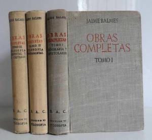 Usado, OBRAS COMPLETAS JAIME BALMES 3 TOMOS BAC FILOSOFIA TEOLOGIA segunda mano  Lima (Lima)