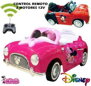 Carro A Bateria Disney Mickey Minnie Mouse 6 Volteos En Lima