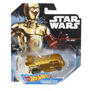 Hot wheels star wars carros de personajes c-3po die cast