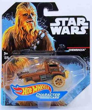 Hot wheels star wars carros de personajes chewbacca die cast