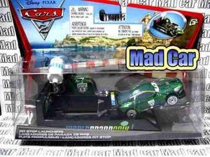Mc mad car auto cars disney pixar nigel gearsle con lanzador
