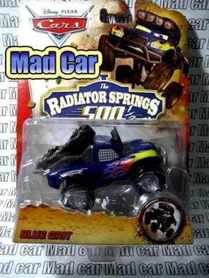 Mc mad car cars disney pixar auto radiator 500 blue grit
