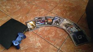 Ps3 320gb con mando azul y 7 juegos