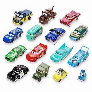 Set de cars x16, camión mack de cars, mcqueen con control