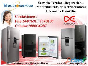 Servicio técnico de refrigeradoras reparación DAEWOO **6687691**
