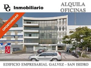 Alquiler oficina implementada 500 m2 ce galvez - san isidro
