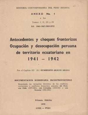 Anexo n° 1 de la obra sobre la ocupacion peruana al