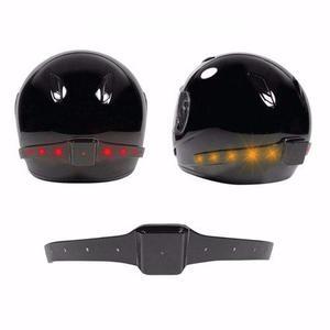 Luces led para casco de motocicleta intermitentes, seguridad