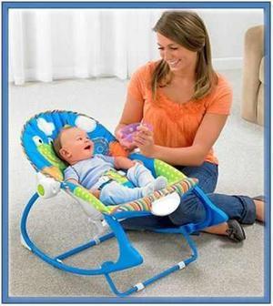 Mecedora silla ranita con gimnasio musical para bebe