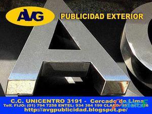 101 Letreros luminosos en LIMA PERUAVG Diseño y VentaLetras de Acero AVG Empresa especializada