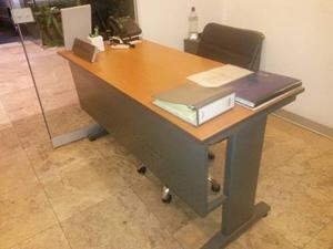modernos escritorios de melamine con base metalica - Escritorios Modernos