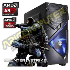 CPU GAMER AMD A8 RAM 8GB DISCO 1TB VIDEO GTX 2 GB DDR5 segunda mano  Lima (Lima)