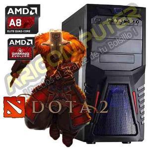 CPU GAMER DOTA2 HD AMD A8 RAM 8GB DISCO 1TB VIDEO R7 2GB segunda mano  Lima (Lima)
