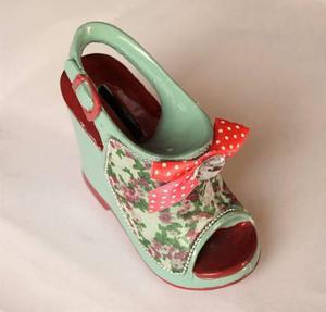Alcancía zapato taco diseño regalo mujer madre esposa