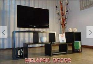 Centro entretenimiento mueble minimalista modular tipo l