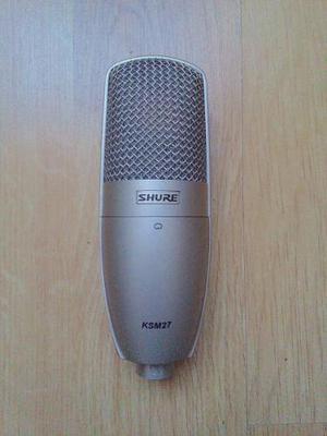 Micrófono shure ksm27 condensador estudio grabación sonido