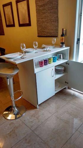 Mueble mesa auxiliar de cocina con repisa modelo isla en Lima ...