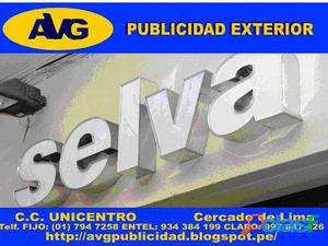 Peru Letreros luminosos en LIMA PERUAVG Diseño y VentaLetras de Acero AVG Empresa especializada