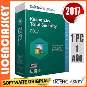 Kaspersky total security 2017 licencia original 1 equipo