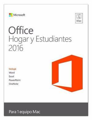 Office hogar y estudiante 2016 para mac product en caja