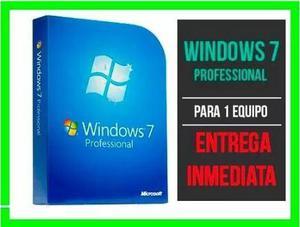 Windows 7 professional retail licencia original 32/64bit
