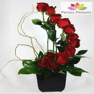 Arreglo flora de rosas importadas