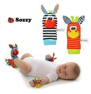 Medias y muñequeras de estimulación para bebés marca