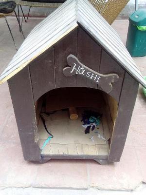 Casa perro madera clasf - Casa de perro grande ...