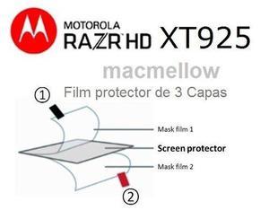 Film pantalla lamina motorola razr xt925 + instalacion mica