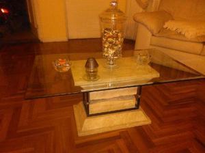 Mesa centro marmol vidrio anuncios noviembre clasf - Mesas de centro de vidrio ...