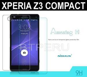 Mica vidrio templado sony xperia z3 compact lamina golpes