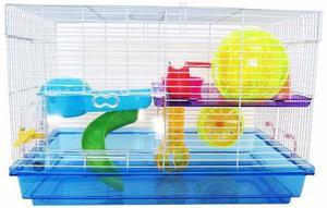 Jaula gigante 2 pisos para hamster nueva con regalo !!!