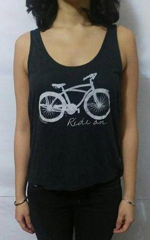 Billabong tank top mujer color negro bicicleta talla m