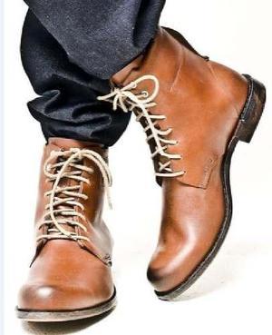 Botas militares hombre zapatos, calzado cuero piel trujillo