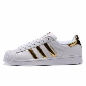 Stock adidas superstar gold 100% originales delivery tallas.