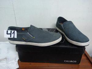 Vendo zapato casual calimod nuevo t41 verde original en caja