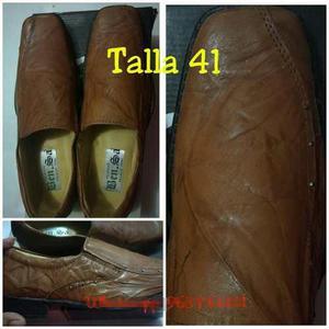 Zapato de cuero para caballero: calzado nuevo, puro cuero