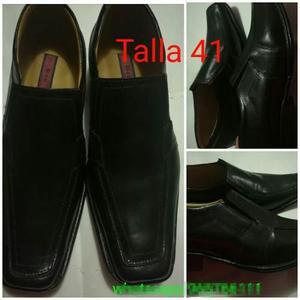 Zapatos de cuero para caballero: calzado de vestir 100%cuero