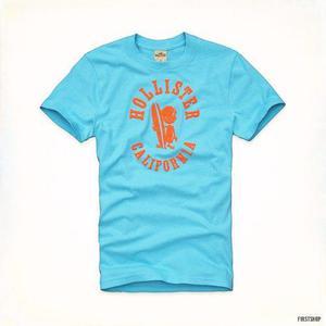 Polo hollister original camiseta con estampado talla l en Lima ... 339b0bfab93ce