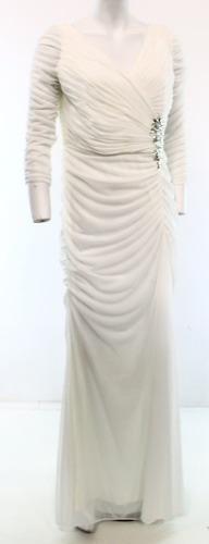 Vestído largo fiesta matrimonio blanco pedreria nuevo usa l