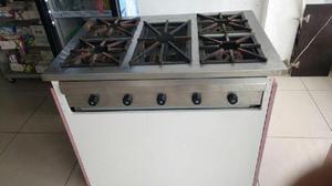 Cocina industrial hornillas acero clasf for Cocina 02 hornillas