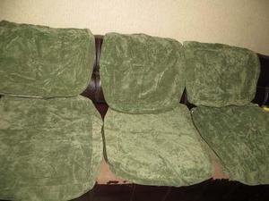Forros cojines muebles sala rustico madera usados remato b30