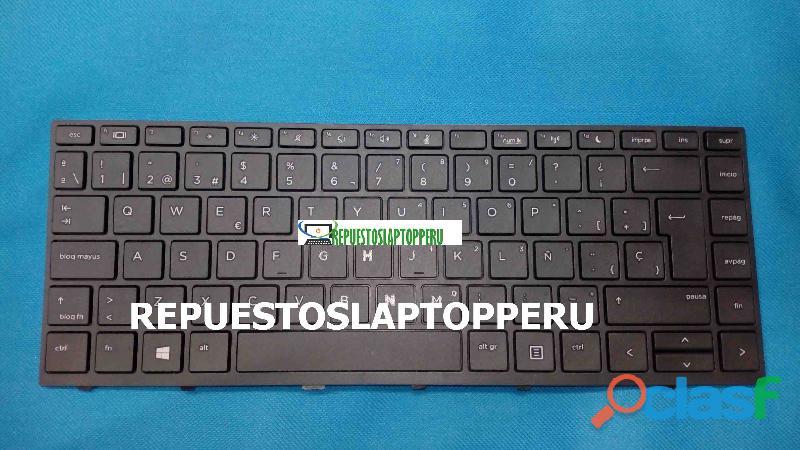 Teclado español hp probook 430 g5 440 g5 445 g5 series | con marco negro