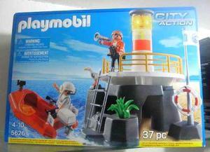 Playmobil 5636 faro con balsa de rescate sellado coleccion