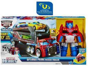Transformers rescue bots - optimus trailer de rescate (untc)